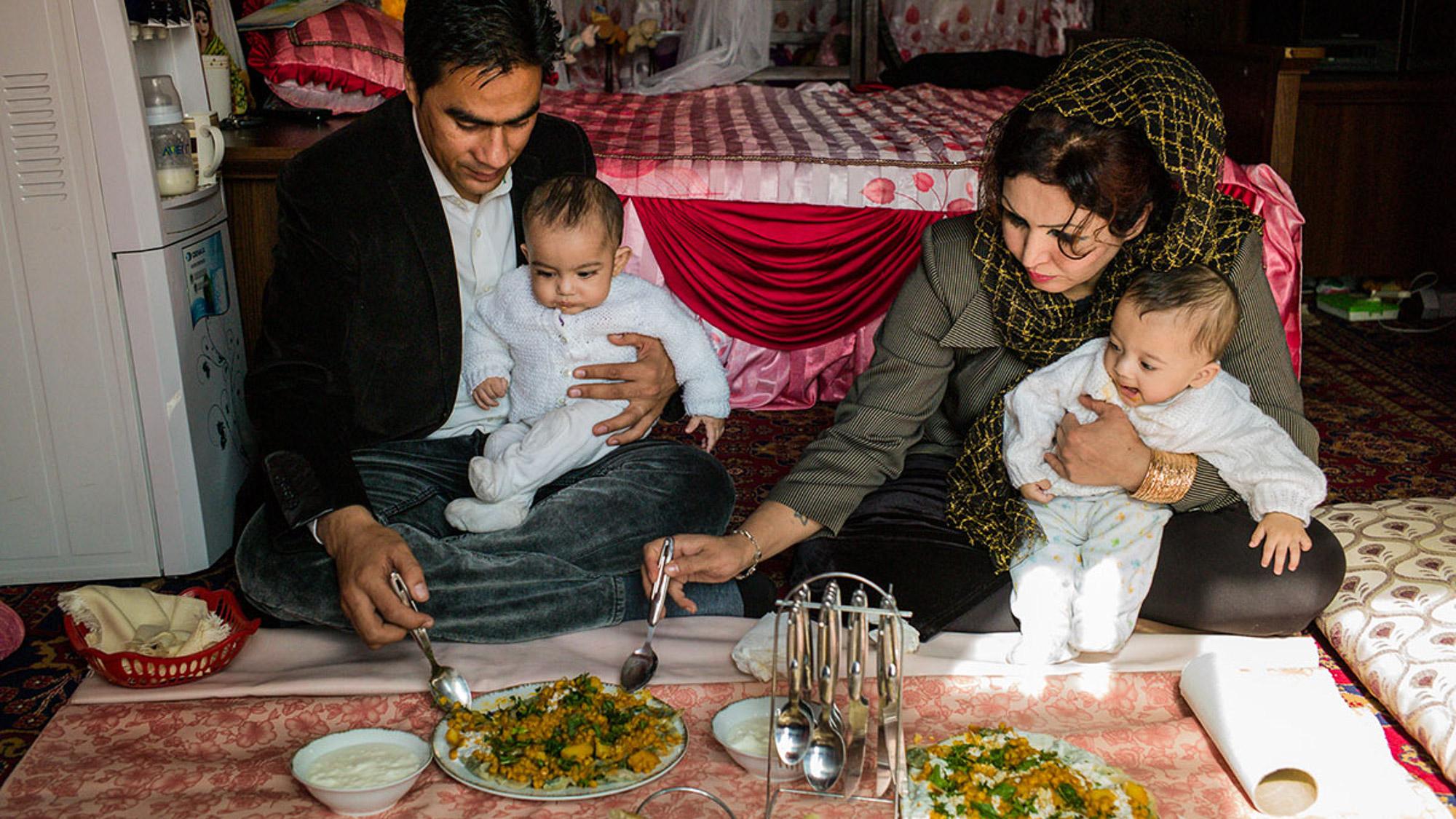 Saba Sahar in her home