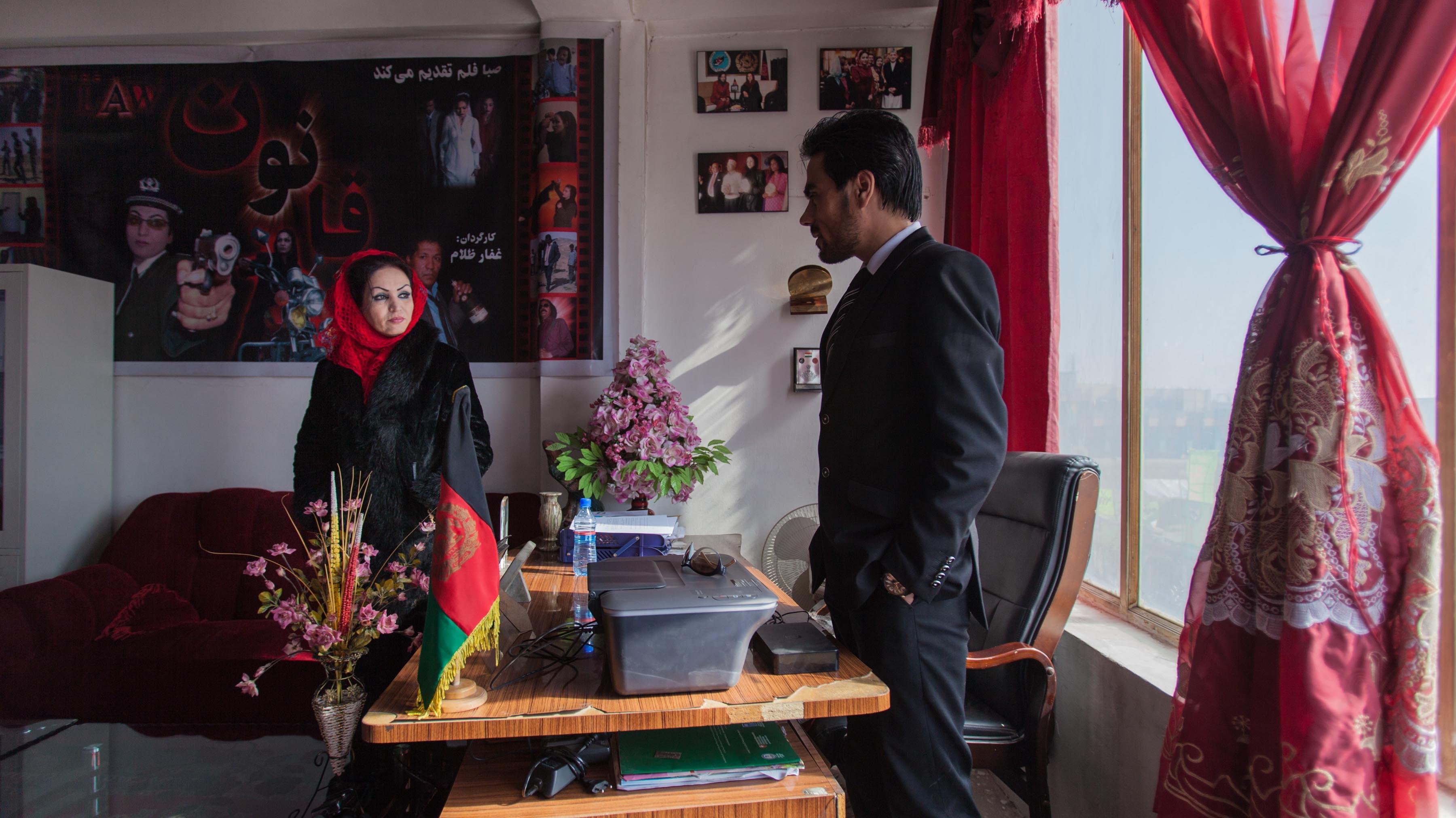 Saba Sahar in her studio