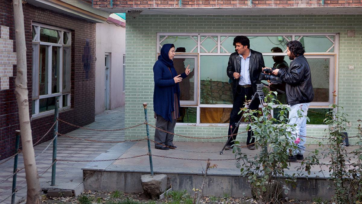 Shinkai filmed infront of her house